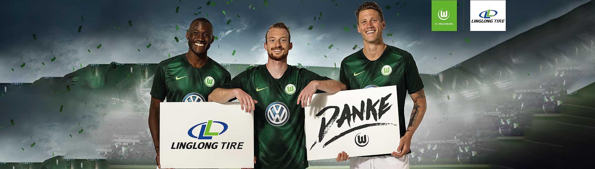 Linglong Tire und Vfl Wolfsburg bedanken sich